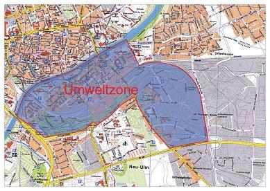 Umweltzone München Karte.Umwelt Plakette Neu Ulm