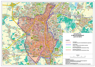 Umweltzone Leipzig Karte.Umwelt Plakette Mönchengladbach