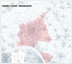 Wiesbaden Karte.Umwelt Plakette Wiesbaden