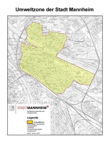 Umweltzone Karlsruhe Karte.Umwelt Plakette Mannheim